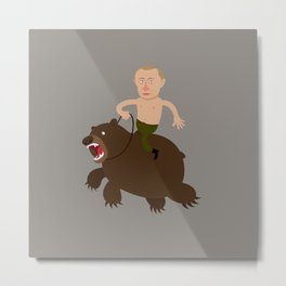 Putin Rider Metal Print