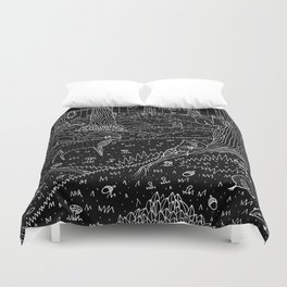 Nocturnal Animals of the Forest Duvet Cover