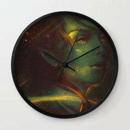 Burning night Wall Clock