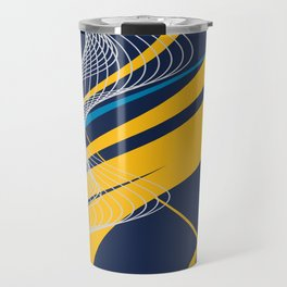 Blue Yellow  Abstract Future Technical Travel Mug