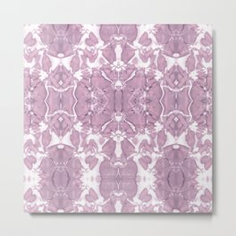 Shibori Rose Crepe De Chine Metal Print