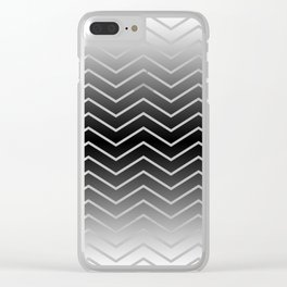 Fat Thin Chevrons Dove White Clear iPhone Case