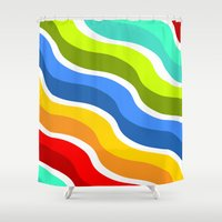bacon Shower Curtains featuring Bacon by Roberlan Borges