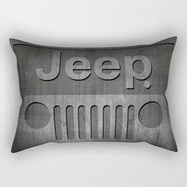 Black Jeep Rectangular Pillow