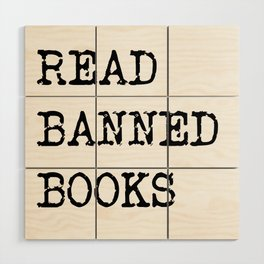 Read Banned Books Wood Wall Art