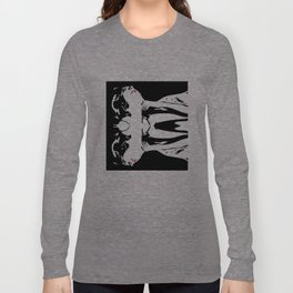 French New Wave Lounging Long Sleeve T-shirt