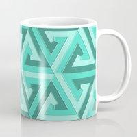lv Mugs featuring Geometrix LV by Harvey Warwick