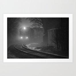 Train In The Fog Art Print