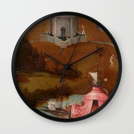 """Hieronymus Bosch """"The Last Judgment"""" triptych (Bruges) left panel Wall Clock"""