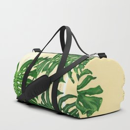 Monstera on Yellows Duffle Bag