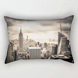 Stormy Manhattan Rectangular Pillow