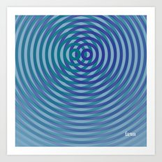 SoundWaves Teal/Indigo Art Print