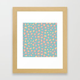 Leopard Baby - Pink and  Blue Framed Art Print