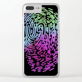 Fingerprint graphic design Clear iPhone Case