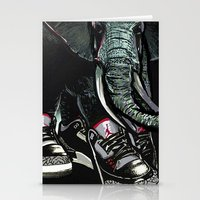 sneaker Stationery Cards featuring SNEAKER ELEPHANT by Juan Diaz
