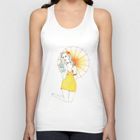 pin up Tank Tops featuring Pin-Up  by Susana Carvalhinhos