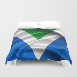 Vegan Flag on soft and shiny clothing Duvet Cover