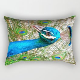 Peacock in Bloom Rectangular Pillow