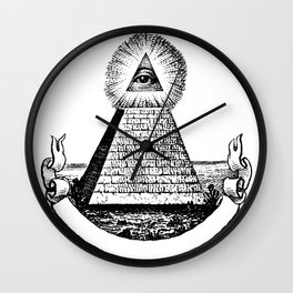 the Eye of Providence from the Great seal of America  All seeing Eye us dollar money cash Pyramid Wall Clock