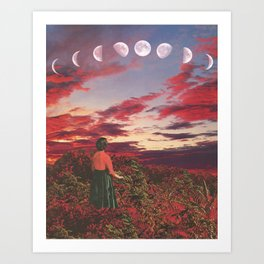 Crimson Paradise Art Print
