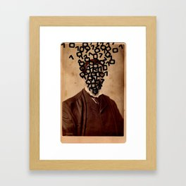 Ones and Zeroes Framed Art Print