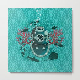 Deep Dive Metal Print