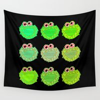 cookies Wall Tapestries featuring Cookies (Kush) Monster by Rapsmyinitials