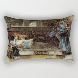Antoni Fabrés - The Sultan's Gift (1886) Rectangular Pillow