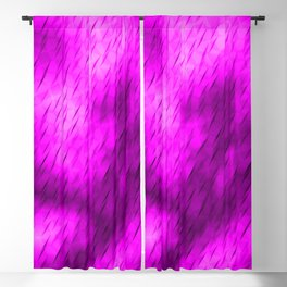 Line texture of magenta oblique dashes with a luminous intersection on a luminous charcoal. Blackout Curtain