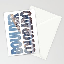 Boulder Colorado in Winter Stationery Cards