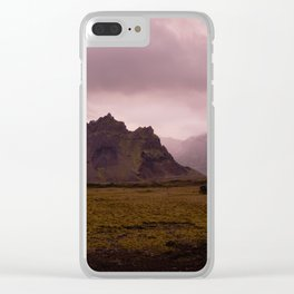 Midnight In Iceland Clear iPhone Case