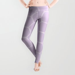 Honeycomb Light Purple #288 Leggings