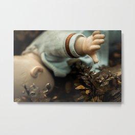 Raindrop and lost, abandoned orphan doll Metal Print