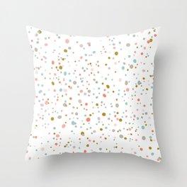 Coral Specks Throw Pillow