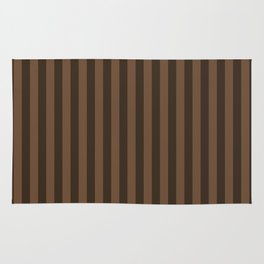 Coffee Brown Stripes Pattern Rug