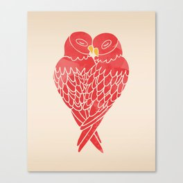 Love Birds (Red) Canvas Print