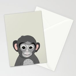 Monkey print Stationery Cards
