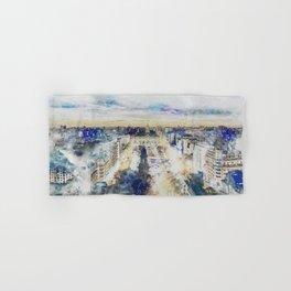 Buenos Aires watercolor Hand & Bath Towel