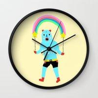 yolo Wall Clocks featuring Yolo by Saif Chowdhury