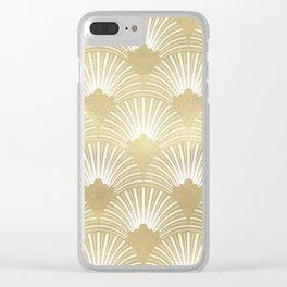 Gold foil look Art-Deco pattern Clear iPhone Case