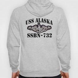 USS ALASKA (SSBN-732) BLACK LETTERS Hoody