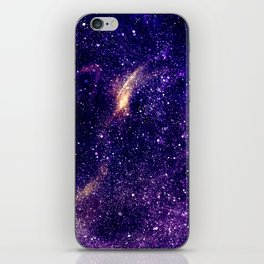 Ultra violet purple abstract galaxy iPhone Skin