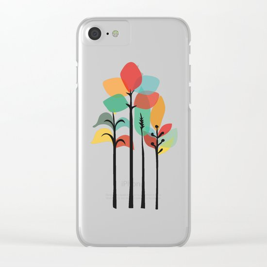 Tropical Groove Clear iPhone Case