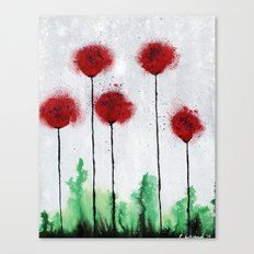 Red Wildflowers Canvas Print