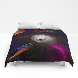 Full moon - Blood moon  fascination wolf Comforters