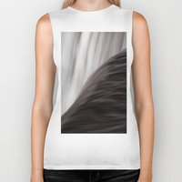 waterfall Biker Tanks featuring Waterfall by Alexandra Str