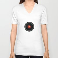 2001 a space odyssey V-neck T-shirts featuring 2001, space odyssey - HAL by Collectif PinUp!