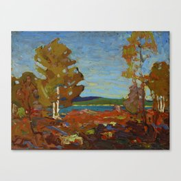 Tom Thomson Trees and Stump above a Shore 1916 Canadian Landscape Artist Canvas Print