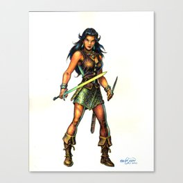 The Darkslayer - Jarla the Brigand Queen Canvas Print
