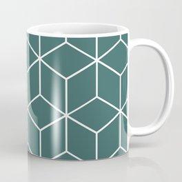 Cube Geometric 03 Teal Coffee Mug